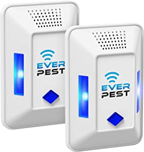 Ultrasonic Pest Repeller Plug in - Electronic Insect Control Defender 2Pack - Roach Bed Bug Mouse Rodent Mosquito Killer - Indoor Reject Repellent - for Cockroach Ants Mice Fly Rat Spider Reject…