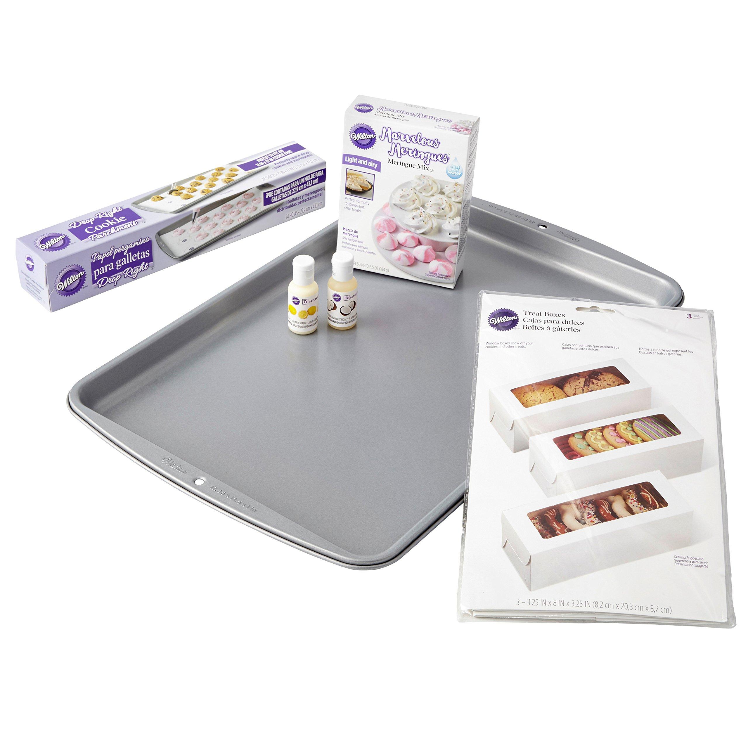 Wilton 2109-8423 Meringue Ingredients and Supplies Cookie Kit Baking Bundle, Assorted
