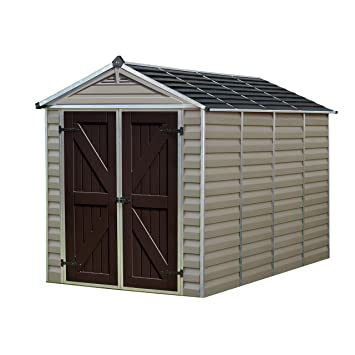 palram skylight storage shed 6 x 10