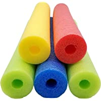 Fix Find 52 Inch Colorful Foam Pool Swim Noodle 5 Pack in Bright Jewel Tone Multicolors 52""