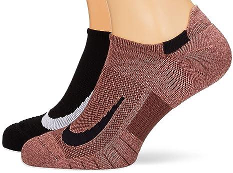 Nike 2 Pares Calcetines para Zapatillas Deportivas, otoño/Invierno, 2 Parejas, Unisex