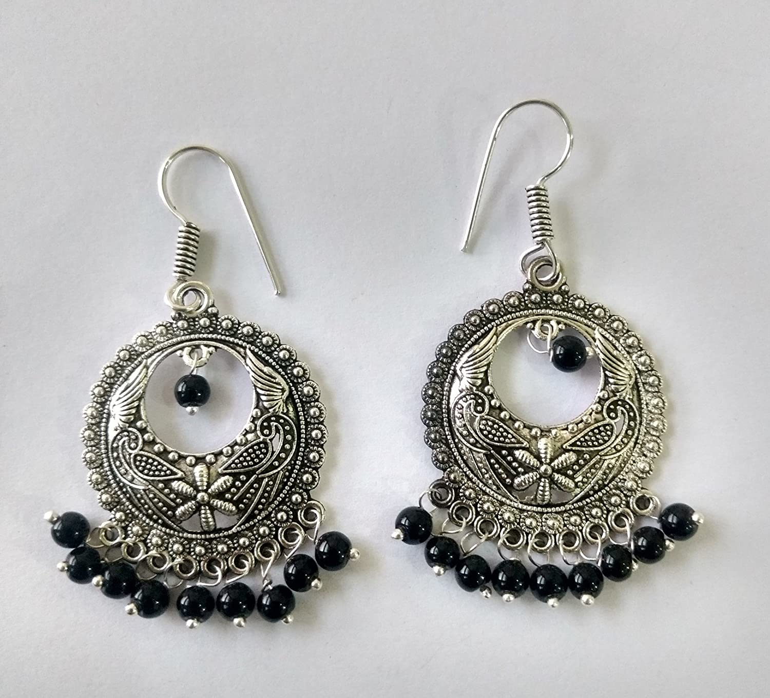 Jyesh Jewels Combo of Three/ Dangle /& Drop Earrings set in German Silver Beaded Turkish Style Style1