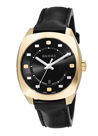 a2bb27469ff Image Unavailable. Image not available for. Color  Gucci Swiss Quartz Gold- Tone and Leather Dress Watch(Model  YA142408)