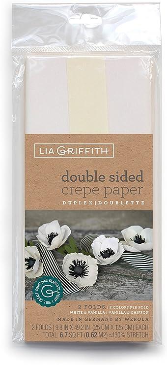 White /& Vanilla Vanilla /& Chiffon Lia Griffith Double-Sided Crepe Paper