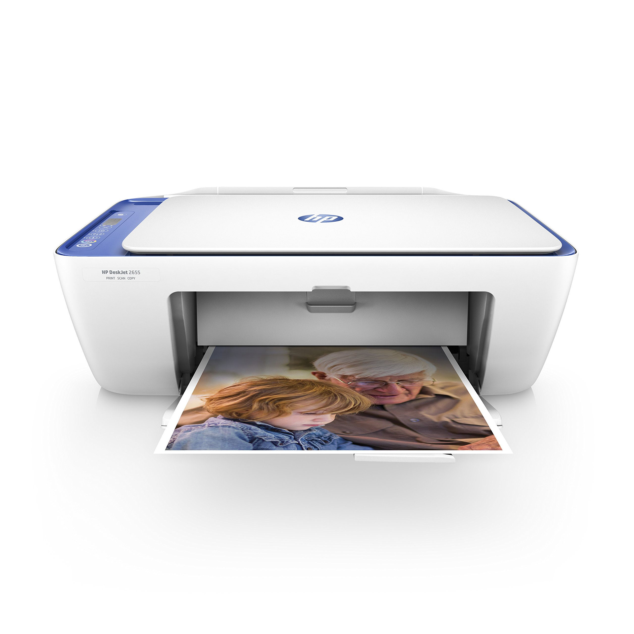 HP DeskJet 2655 All-in-One Compact Printer, HP Instant Ink & Amazon Dash Replenishment Ready - Noble Blue(V1N01A)