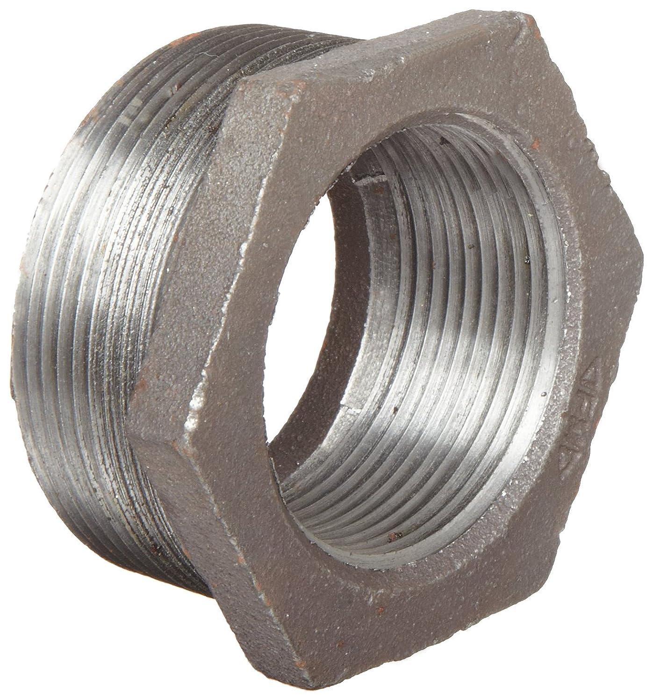 Anvil 8700129805 2 NPT Male x 3//4 NPT Female Cast Iron Pipe Fitting Plain Finish Hex Bushing