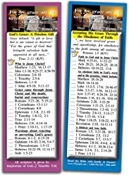 Bible Verse Cards, by eThought - Grace and Faith - Pack of 25 Bookmark Size Cards - God's Grace, a Priceless Gift.