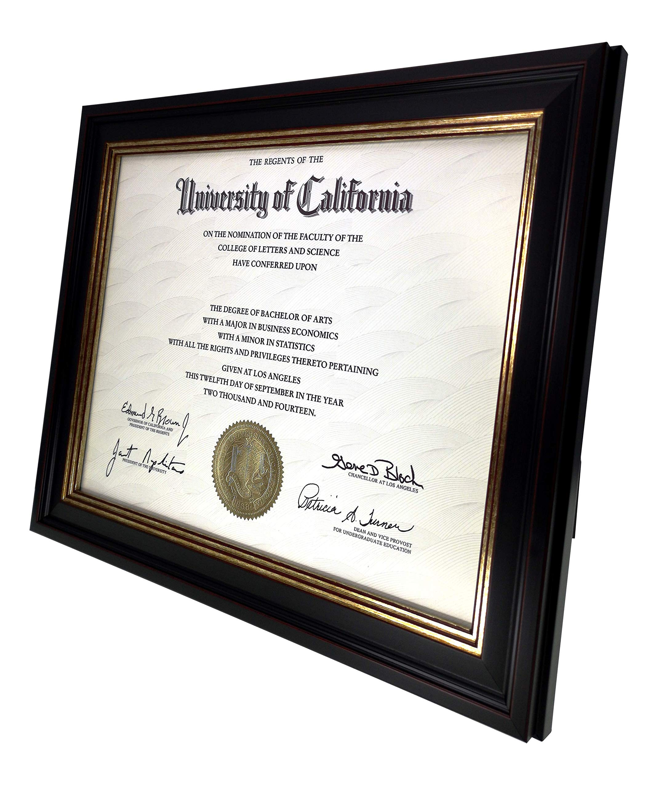 Onuri Inc - Luxurious Document Frame (2-Pack) - Classic 8.5x11 Picture Frame for Diploma Documents and Certificates by Onuri Inc. (Image #3)