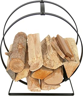 product image for Enclume LR34 HS Indoor/Outdoor Hoop Fireplace Handled Log Rack, Hammered Steel