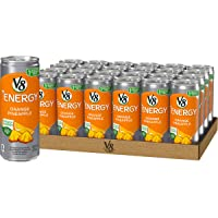 V8 +Energy, Healthy Energy Drink, Natural Energy from Tea, Orange Pineapple, 8 Ounce...