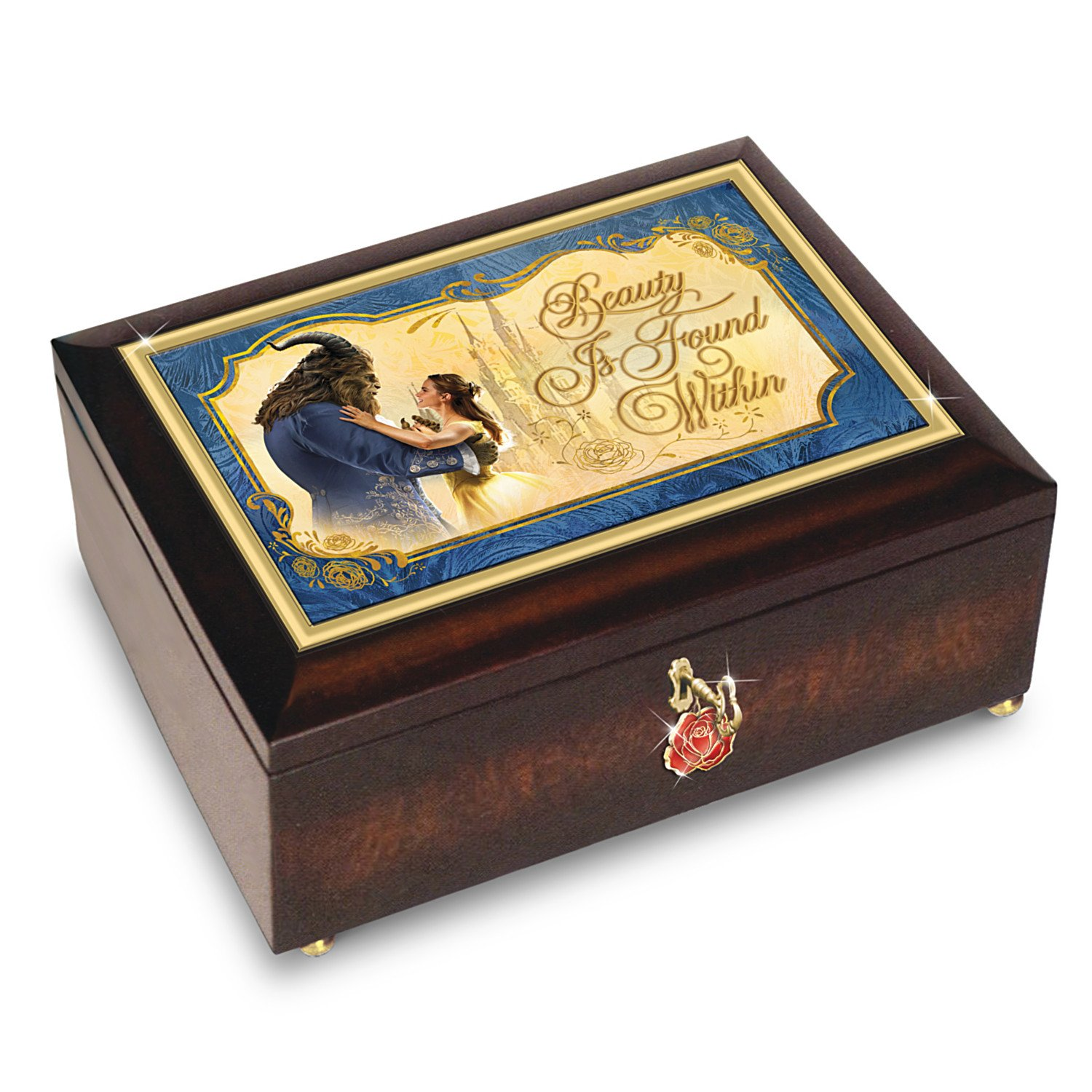 Bradford Exchange Disney Beauty and The Beast Music Box with Rose Charm The Bradford Exchange 01-26171-001