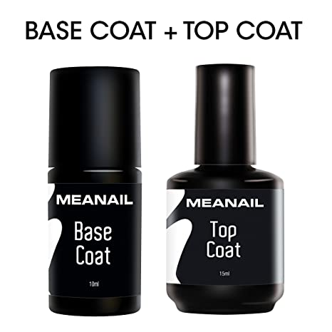 Top Coat y Base Coat Permanente Uñas Gel UV LED Manicura y Pedicura Ideal Lampara Secador