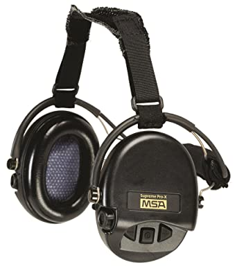 Msa 10149445 Supreme Pro X Ear With Black Neckband Cups Gel Com Scientific