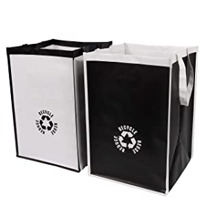 Lily Queen Recycle Waste Bin Bags for Kitchen Home Trash Sorting Bins Organizer Waterproof Baskets Compartment Container (2pcs)