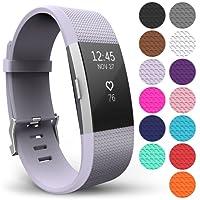 FitBit Charge 2 Armband, Yousave Accessories Ersatz Fitness Armband und Uhrenarmband – Fit Bit Silikon Sportarmband und Fitnessband - Wristband Armbänder für Fitbit Charge2 Schrittzähler in 15 Farben