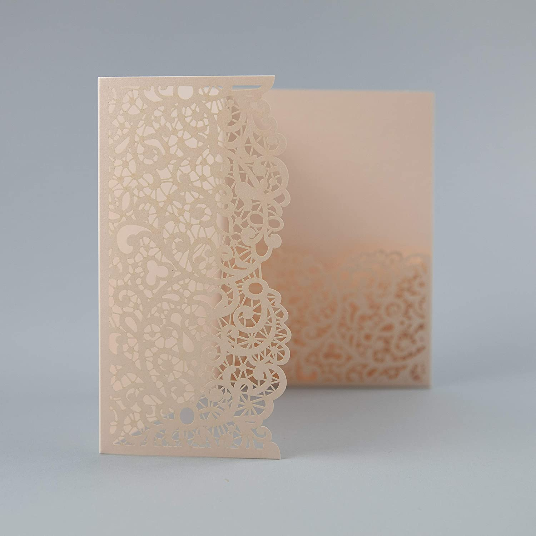 Sample 4 Printable Inserts Laser Cut Floral Invitation Diy Cards Template Kit Rsvp Elegant Peach Wedding Invitations With Envelopes Invitations
