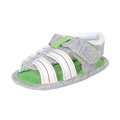 Abdc Kids Infant Boys Grey Denim Sandals Length 13 Cm Age 6