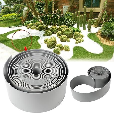 Forever Speed PE bordures jardin bordure plastique bordure pelouse 50mx10cm  gris