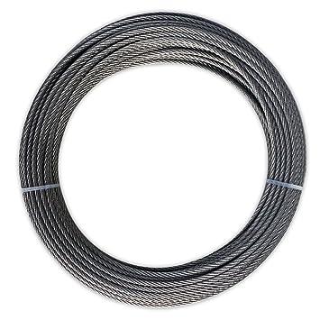 25 m Cable de acero inoxidable 7 x 7 3 mm alambre cuerda de ...