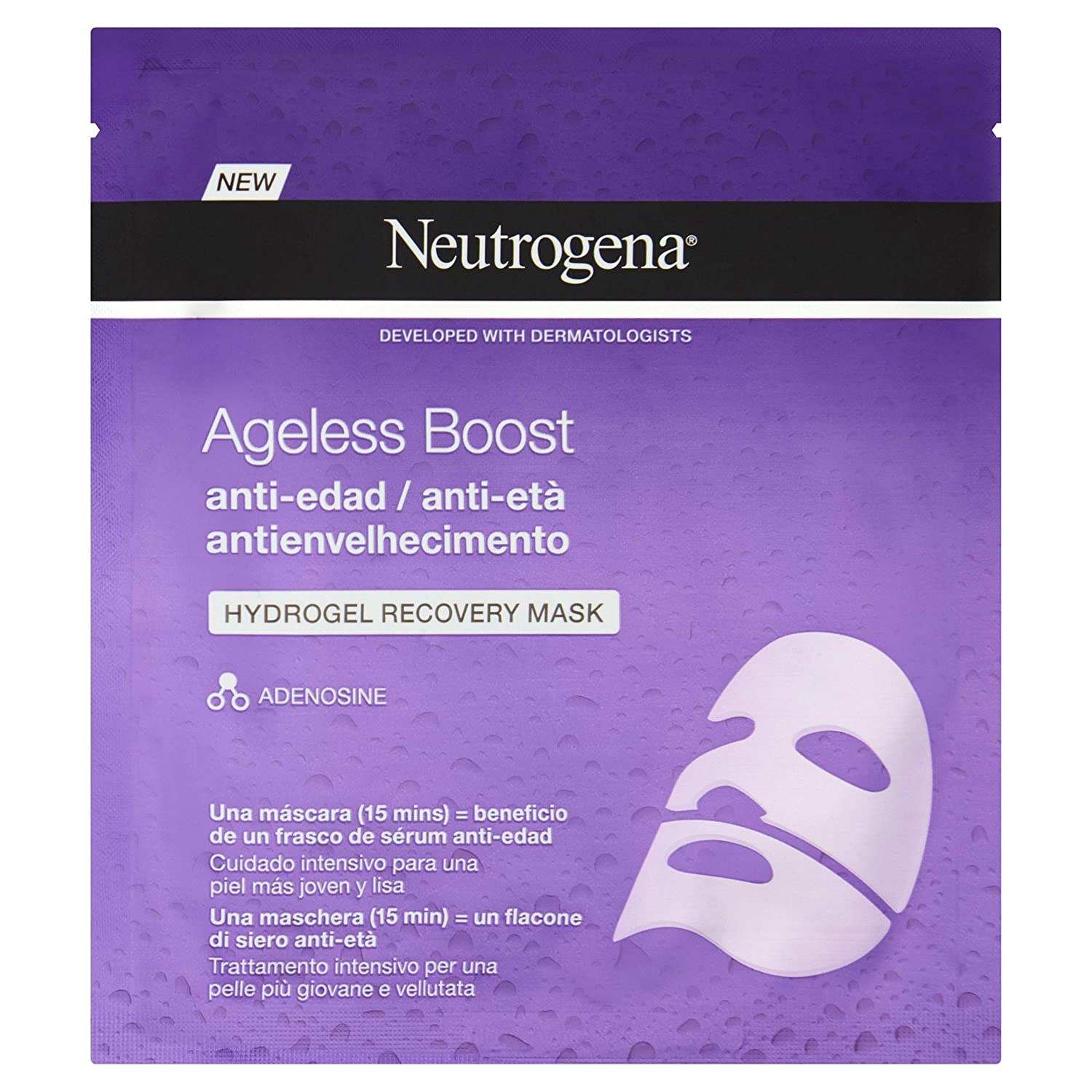Neutrogena Hydrogel Mascarilla Anti-Edad (3 Recipientes De 30 ml ...
