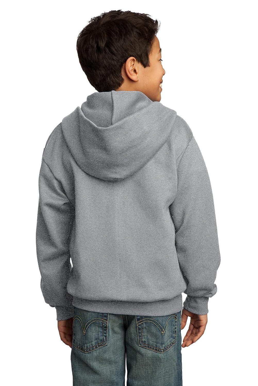 Port /& Company Boys Full-Zip Hooded Sweatshirt PC90YZH