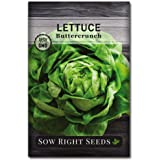 Sow Right Seeds - Buttercrunch Lettuce Seed for Planting - Non-GMO Heirloom Packet with Instructions to Plant a Home…