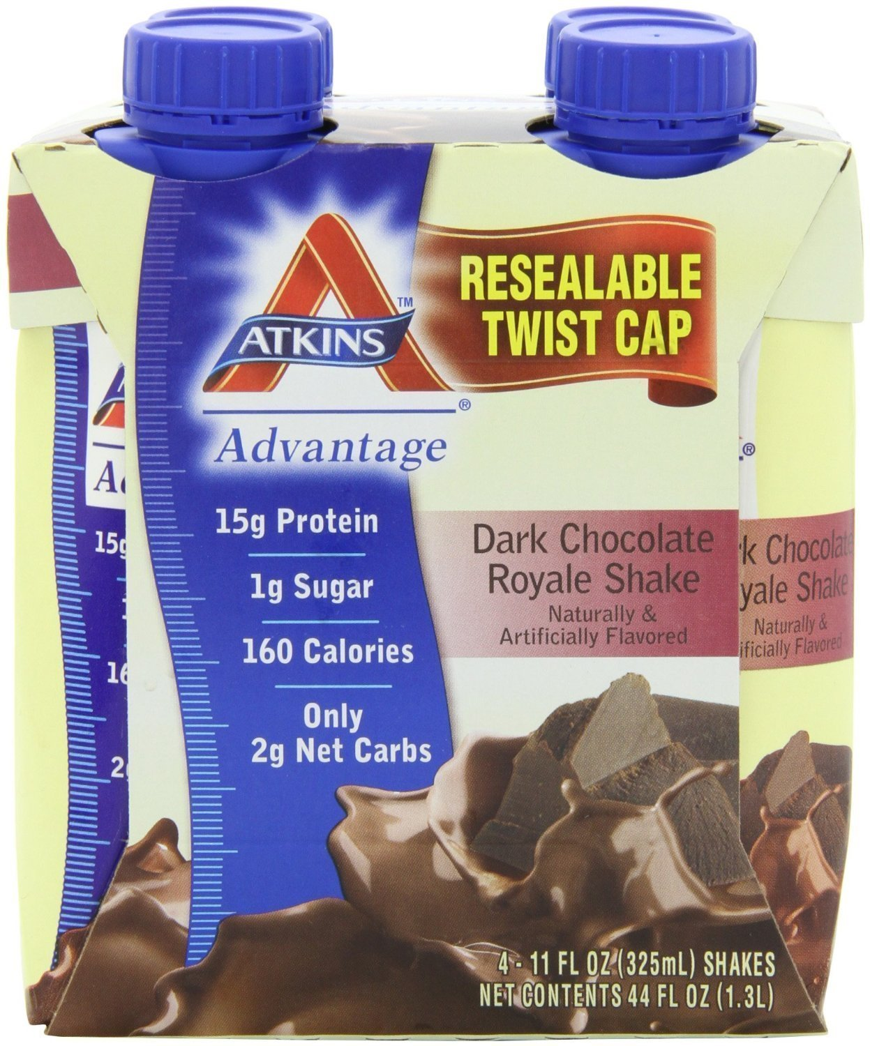 Atkins Ready To Drink Shake, Dark Chocolate Royale, 4 Count ( Pack of 6 ) by Atkins