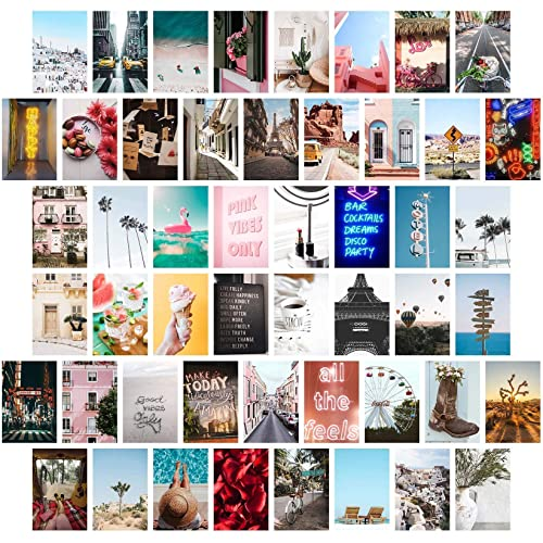 Amazon Com Wall Collage Kit Aesthetic Pictures Bedroom Decor For Teen Girls Wall Collage Kit Collage Kit For Wall Aesthetic Vsco Girls Bedroom Decor Aesthetic Posters Collage Kit 50 Set 4x6 Inch Handmade