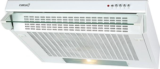 CATA F 2060 WH 220 m³/h De pared Blanco D - Campana (220 m³/h, Canalizado/Recirculación, F, g, E, 60 dB): Amazon.es: Grandes electrodomésticos