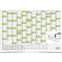 WANDKALENDER/JAHRESPLANER 2019 MIT FERIEN A0 118,8 X 84,0 CM 135 G grün gefaltet