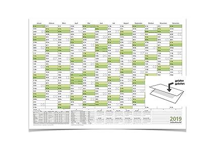Wandkalenderjahresplaner 2019 Mit Ferien A1 840 X 594 Cm 135 G