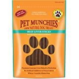 Pet Munchies Beef Liver Sticks, 90g, Box of 8