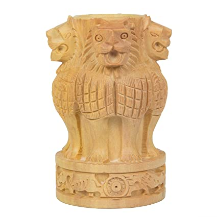 Wooden Decorative Ashoka Symbol Pen Stand Height 4 Inch Amazon
