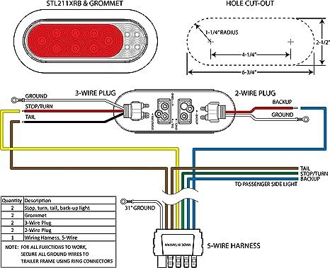 Amazon Com Optronics Mcl32rs Led Fusion Tail Light Kit Tll211xrtmk Automotive