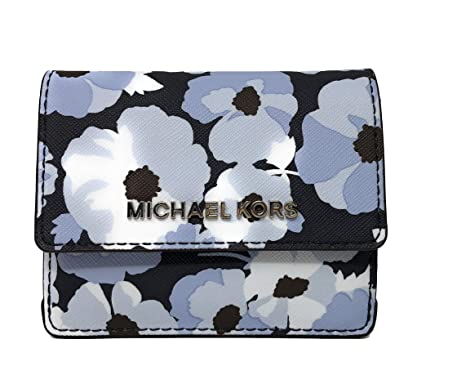 296faa2aac72 Image Unavailable. Image not available for. Color  Michael Kors Jet Travel  Credit Card Case ID Wallet with Key Ring in Navy