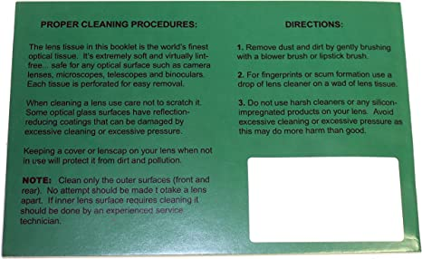 Pack of 50 Sheets Camera Lens Scope KDSG Premium Grade Optical Tissues Lens Cleaning Paper Microscope for Night Vision Optics