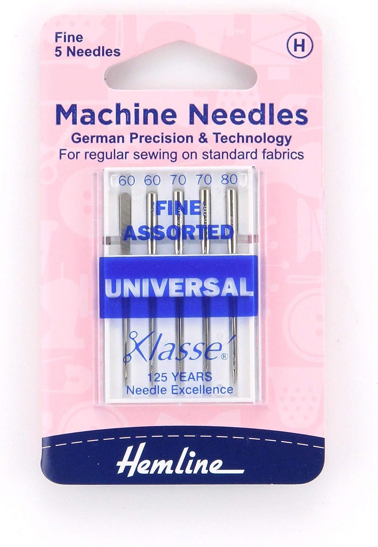 HEMLINE SIZE 80//12 SEWING MACHINE NEEDLES H100.80 PACK 6 UNIVERSAL MEDIUM