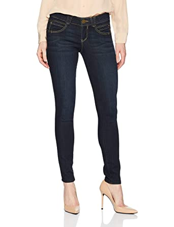 "8d3b930601c804 Democracy Women's ""Ab""solution Booty Lift Jegging, Blue Indigo ..."