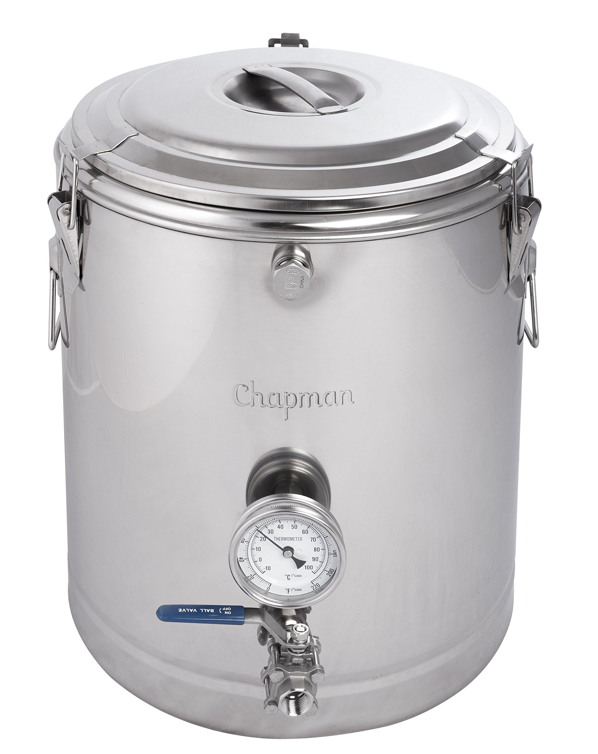 Chapman 15 Gallon ThermoBarrel Stainless Steel Mash Tun by Chapman Brewing Equipment
