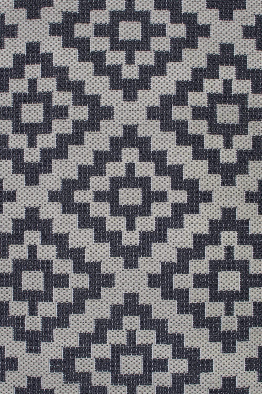 Florence Alfresco Moretti Geometric Pattern Flatweave outdoor and indoor Rug 2x77 Black /& Beige, 60x230 cm Lord of Rugs