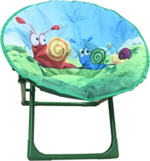 Yummy Cooky Moon Lounge Chair For Toddlers and Kids Lightweight Foldable Kids Saucer Chair  sc 1 st  Amazon.com & Amazon.com: Comfortable Kids Folding Moon Chair for indoor and ...