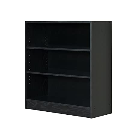sale retailer ebd90 7f630 Mylex Three Shelf Bookcase; Two Adjustable Shelves; 11.63 x 29.63 x 31.63  Inches, Black, Assembly Required (43064)