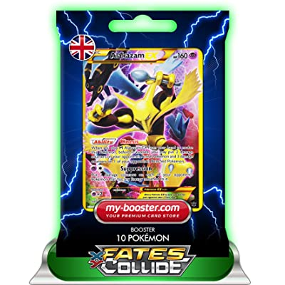 ALAKAZAM EX secrete Full Art 125/124 160HP XY10 FATES COLLIDE - Booster de 10 cartes Pokemon anglaises my-booster