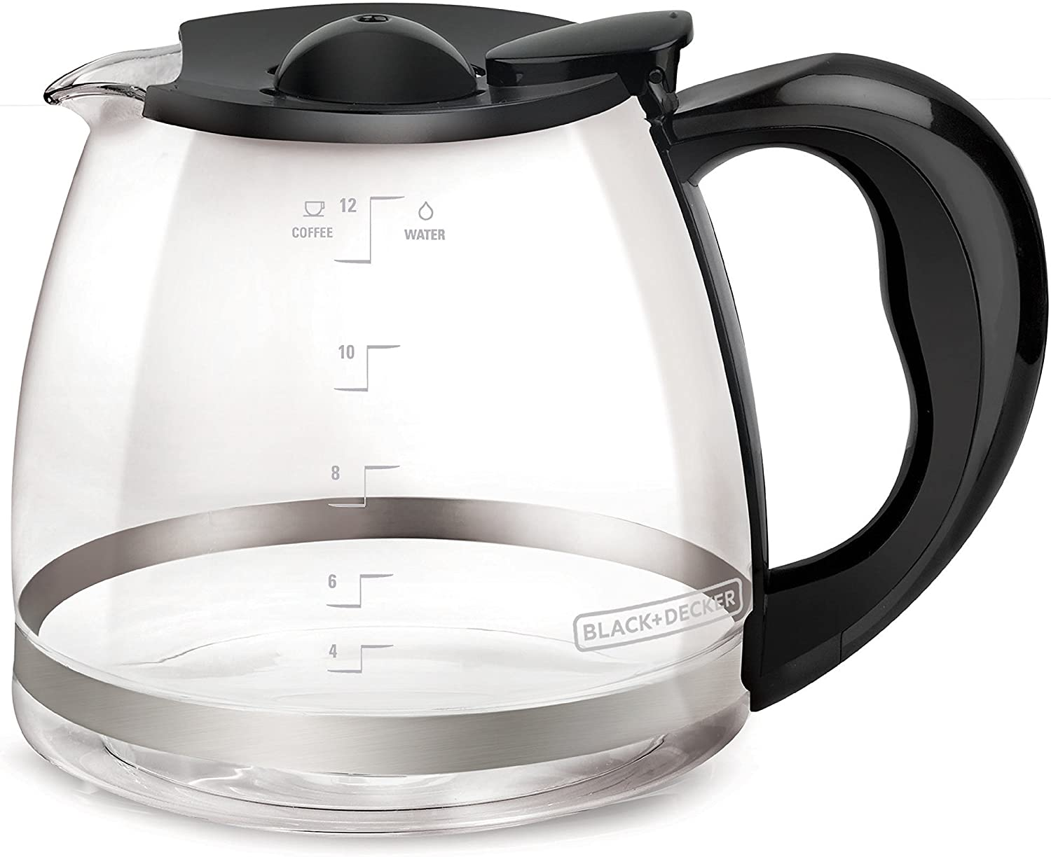 Amazon Com Black Decker 12 Cup Replacement Carafe With Duralife Construction Glass Coffeemaker Carafes Carafes Pitchers