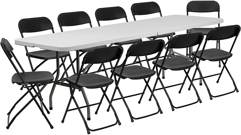 - Amazon.com: Flash Furniture 8' Bi-Fold Granite White Plastic Event