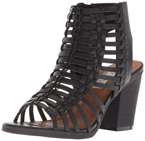 3de45f942da74 Women's Sugar Vivid Peep Toe Side Cut outs Heeled Sandal
