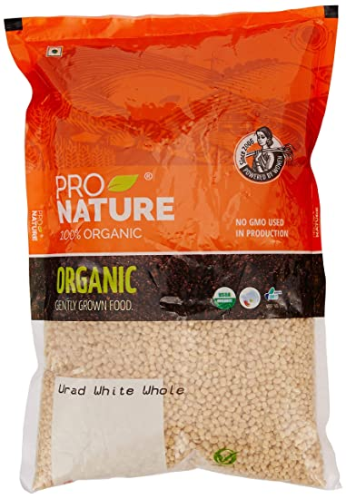 Pro Nature 100% Organic Urad White Whole, 1kg