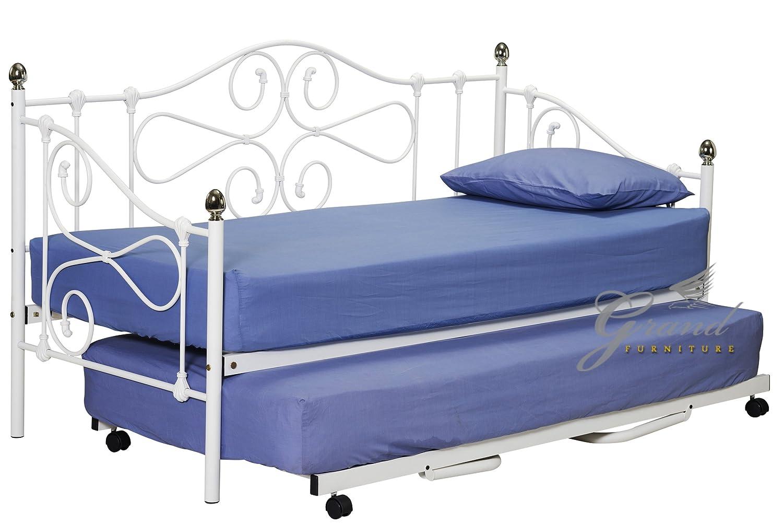 JOCELYN Metall mit Ausziehbett, Weiß unter Bett Viktorianischer Stil ...