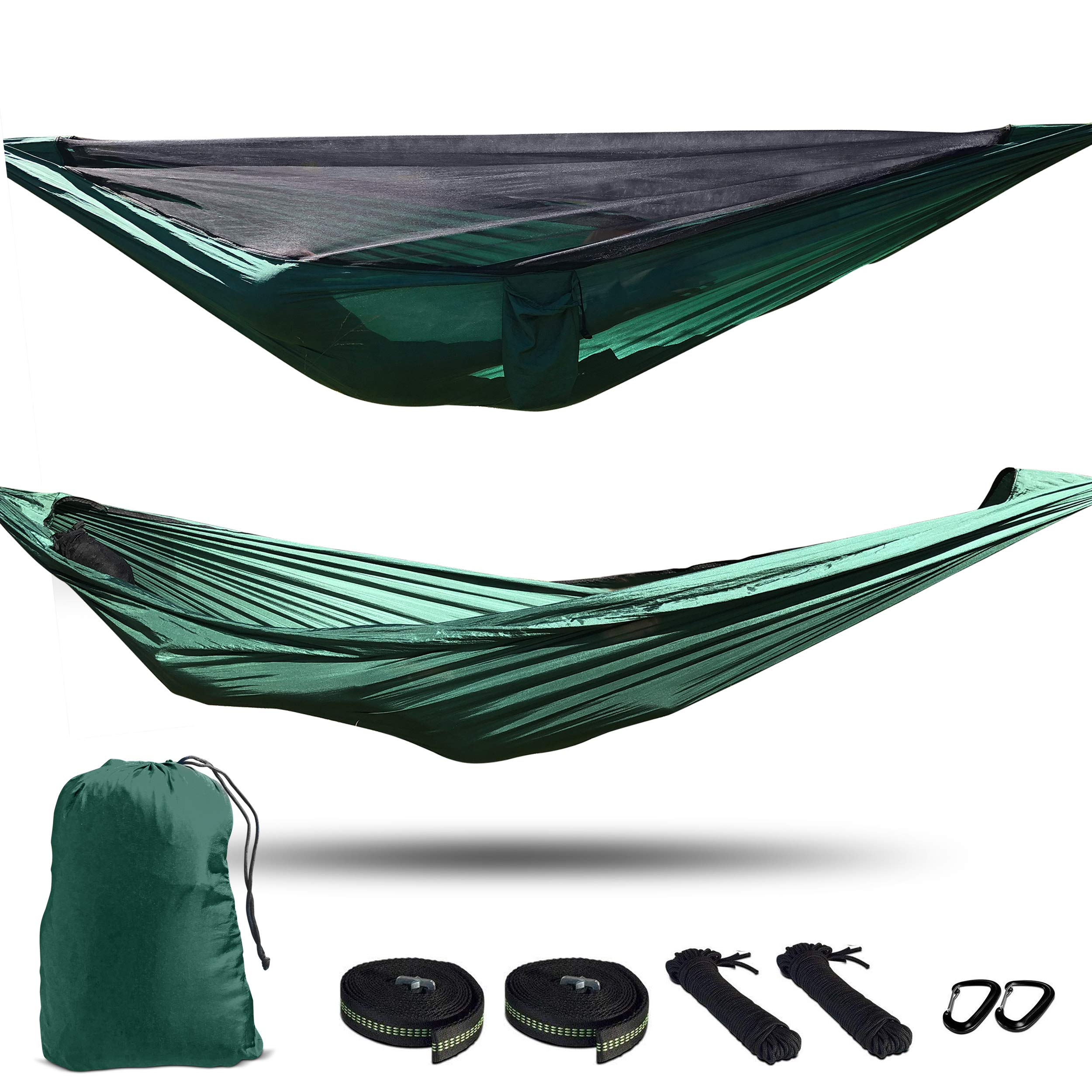 THIS IS LIVING Camping Hammock with Removable Mosquito Net. Lightweight Compact Hiking Double Hammock. by THIS IS LIVING