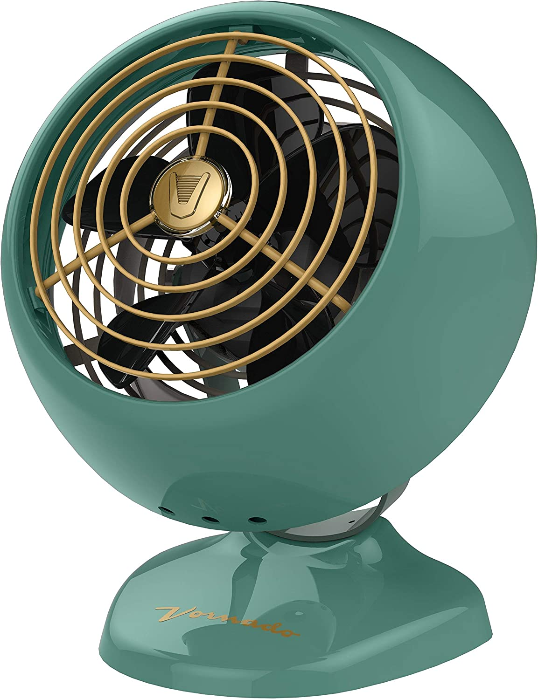 Vornado VFAN Mini Classic Personal Vintage Air Circulator Fan, Green Renewed